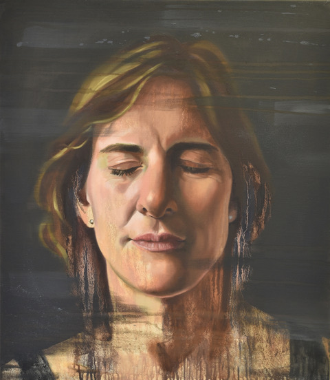 Rower Dame Katherine Grainger painted by Fiona Land