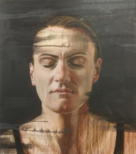 Rower Heather Stanning painted by Fiona Land