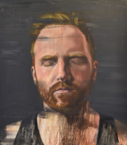 Rower Will Satch painted by Fiona Land