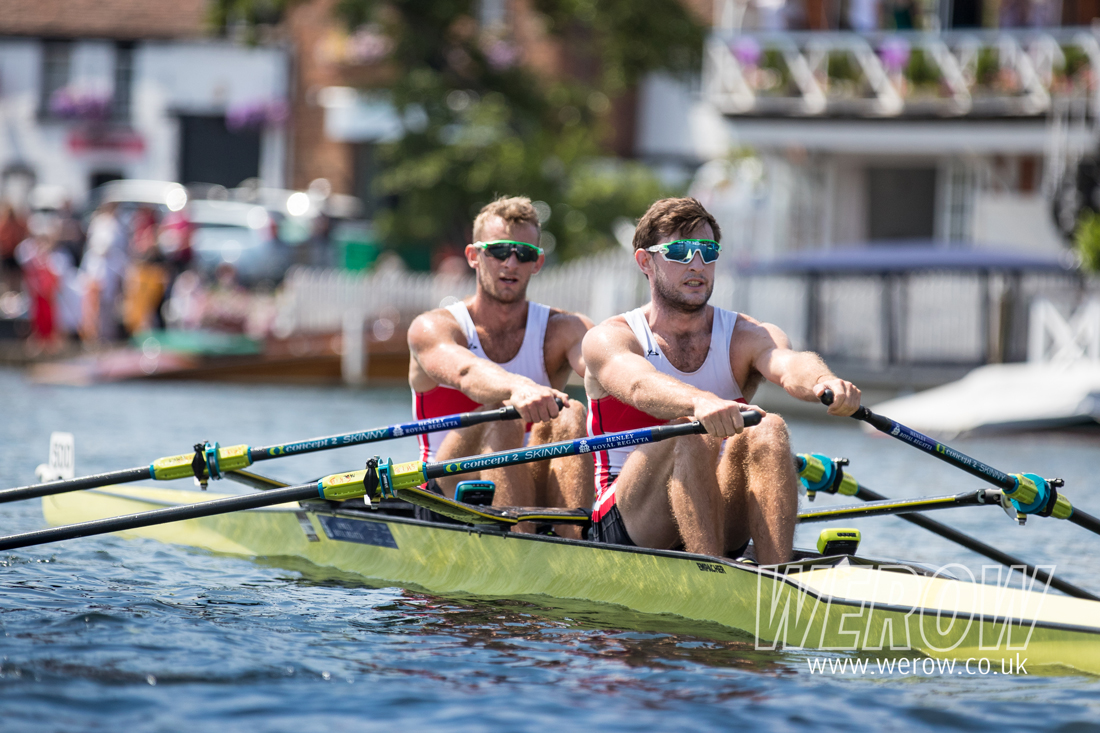 Gary and Paul O'Donovan rowing in the double scull for Skibbereen at Henley Royal Regatta in July 2018
