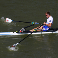 Harry Leask of leander sculling at the world rowing championships in Plovdiv WEROW - Harry Leask ends his season with a polished Plovdiv performance