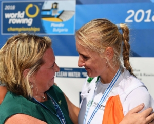 Michelle Carpernter and Sanita Puspure of Rowing Ireland 300x243 - Michelle Carpernter and Sanita Puspure of Rowing Ireland