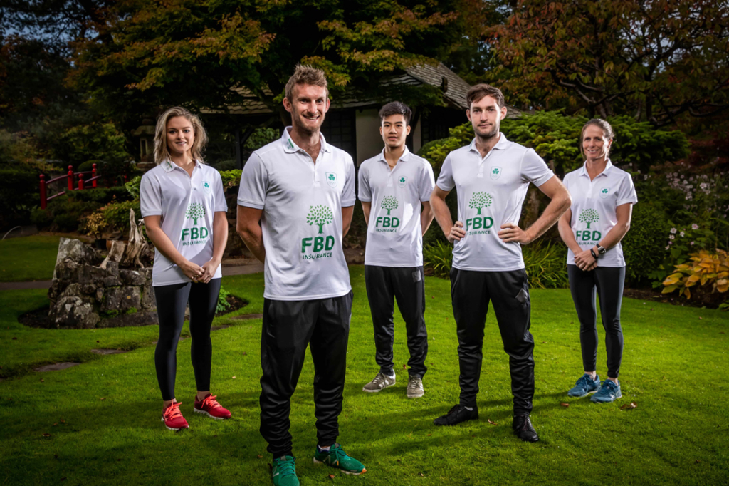 Paul and Cary ODonovan and other Irishi Olympians sporting their new Olympic Federation of Ireland sponsors logo 1024x682 - O'Donovans help launch new sponsorship deal for Olympic Federation of Ireland