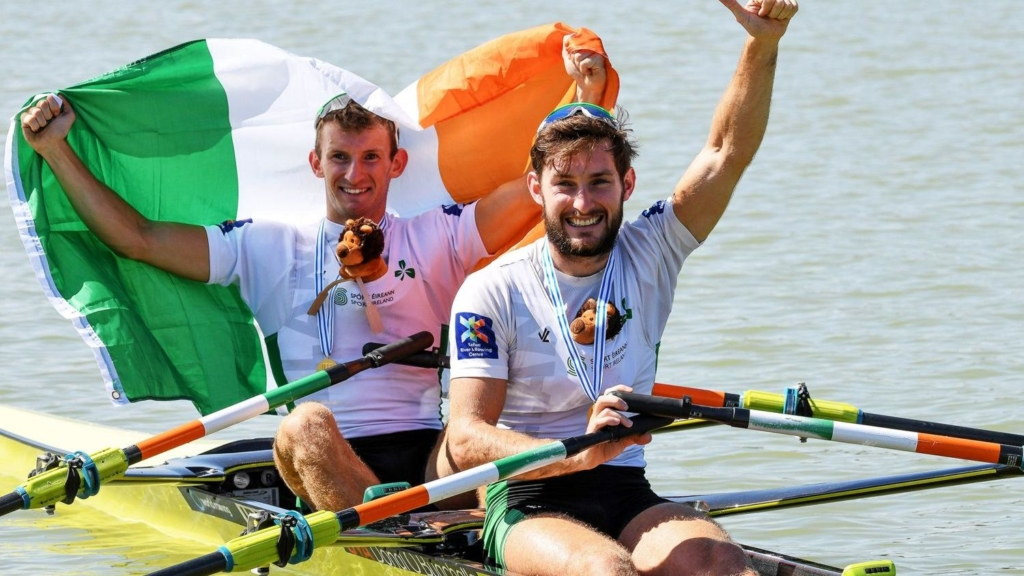The O'Donovan brothers at the World Rowing Championships in Plovdiv 2018