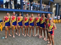 The Romanian U23 winning eight at the European Rowing U23 Champ[ionshiops 2018 in Brest, Belarus.jpg