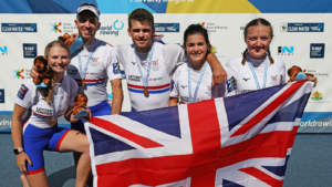 British para-rowers at the 2017 World Rowing Championships