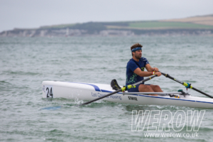 Peter Berg of Sweeden at the British Rowing Coastal Championships 2018