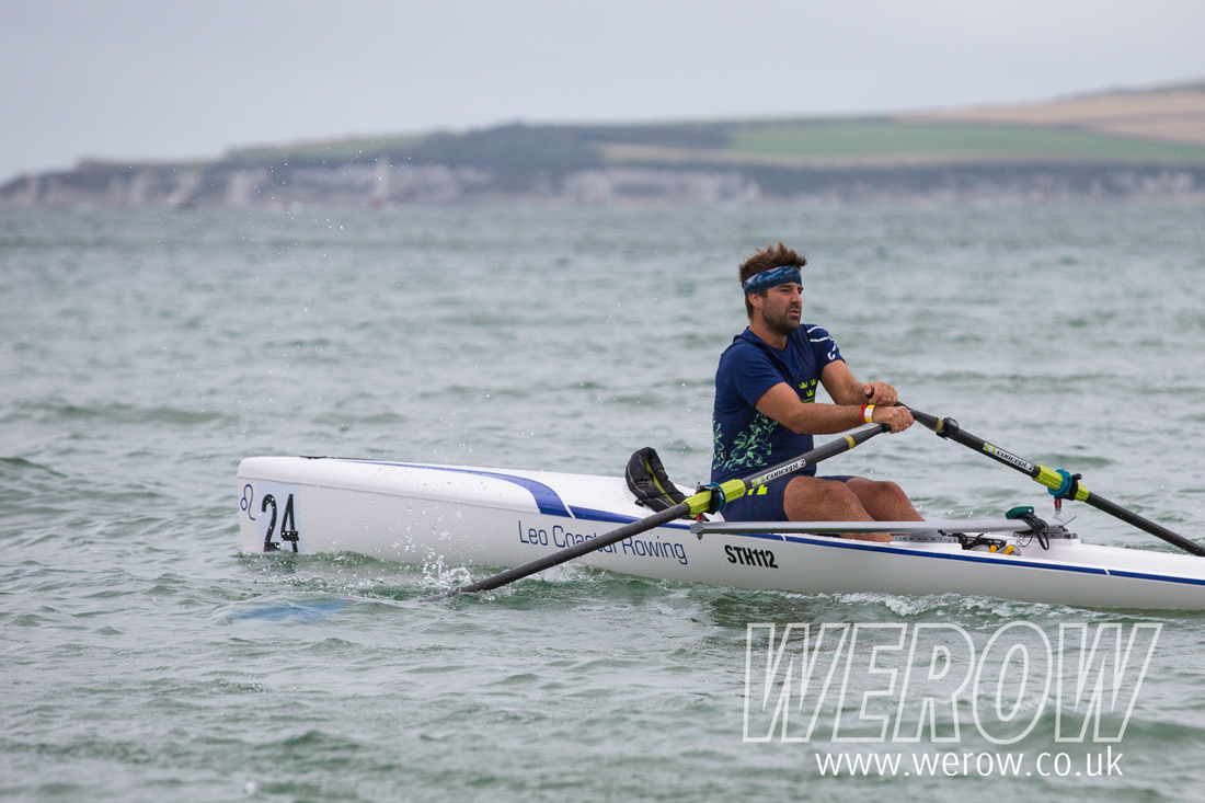 Peter Berg of Sweden at the British Rowing Coastal Championships 2018