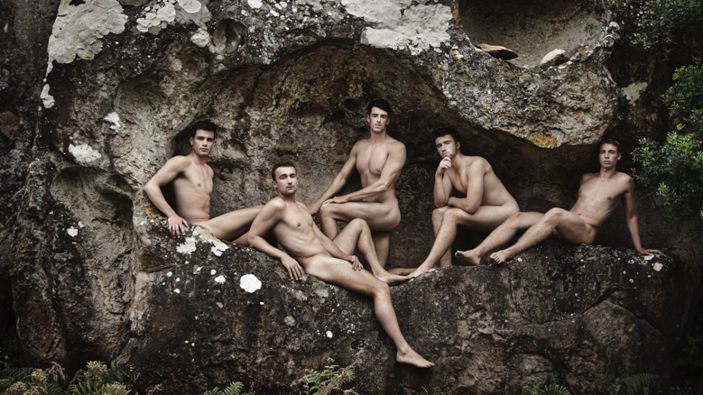 The Warwick Rowers baring most for their tenth anniversary charity calendar