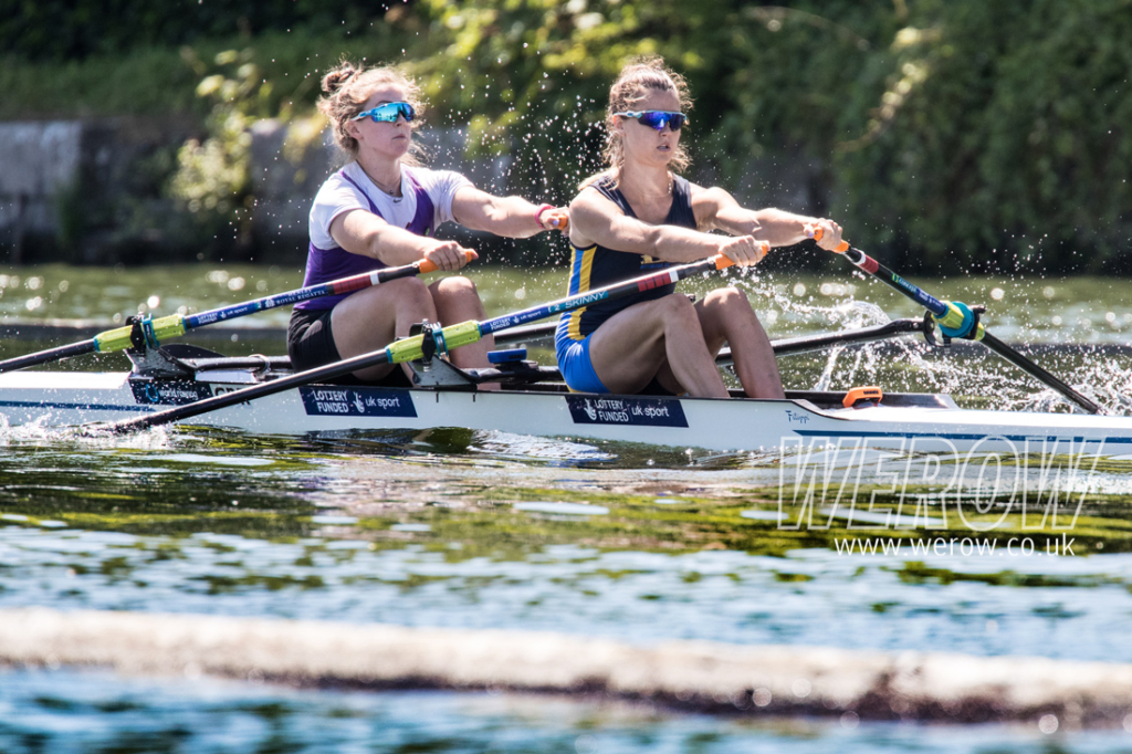 Anna Thornton and Charlotte Hodgkins Byrne winning the Stonor Cup at Henley Royal Regatta 2018
