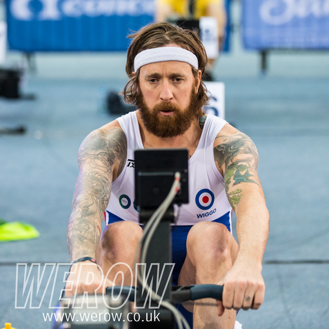 Bradley Wiggins at the British Rowing Indoor Championships 2017
