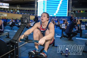 Alice Baatz winning at the British Rowing Indoor Championships 2018