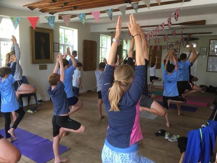 Yoga on the Oxford Junior Rowing Course