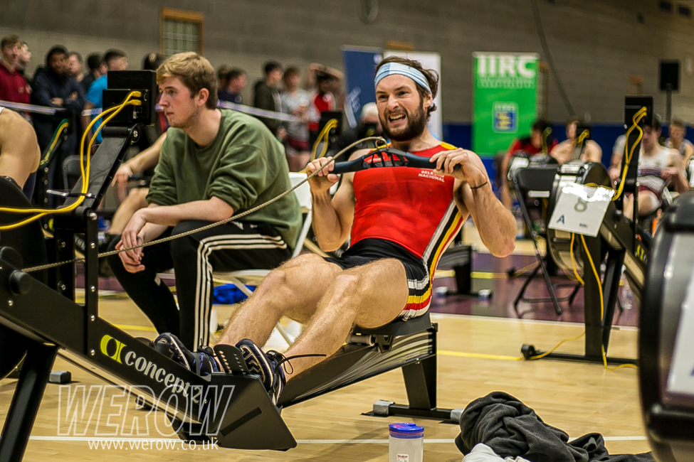 Irish lightweight rower Paul O'Donovan beating his personal best at the Irish Indoor Rowing Championships 2018 (Image: John O'Shaughnessy)