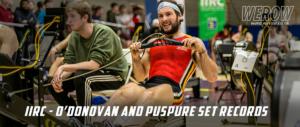 Paul O'Donovan and Sanita Puspure set new records at the Irish Indoor Rowing Championships
