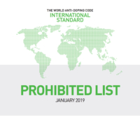 World Anti-Doping List 2019