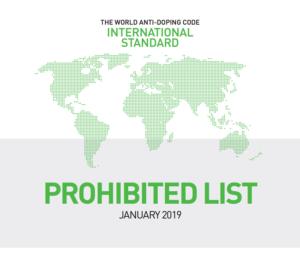 World Anti-Doping List 2019