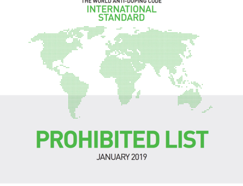 WADA List of Prohibited Substances and Methods comes into force