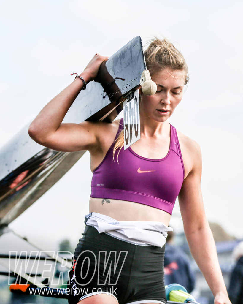Pippa Birch seen here at the British Rowing Senior Championships could become the first female Royal Marine