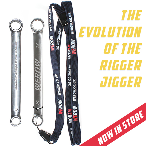 The evolution of the rigger jigger available now in the WEROW store