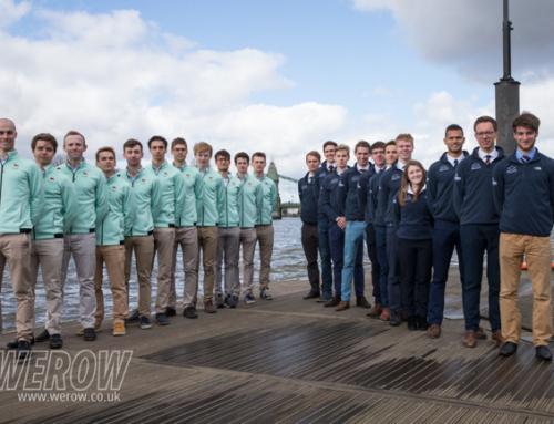 Oxford University lightweight men head for the Tideway