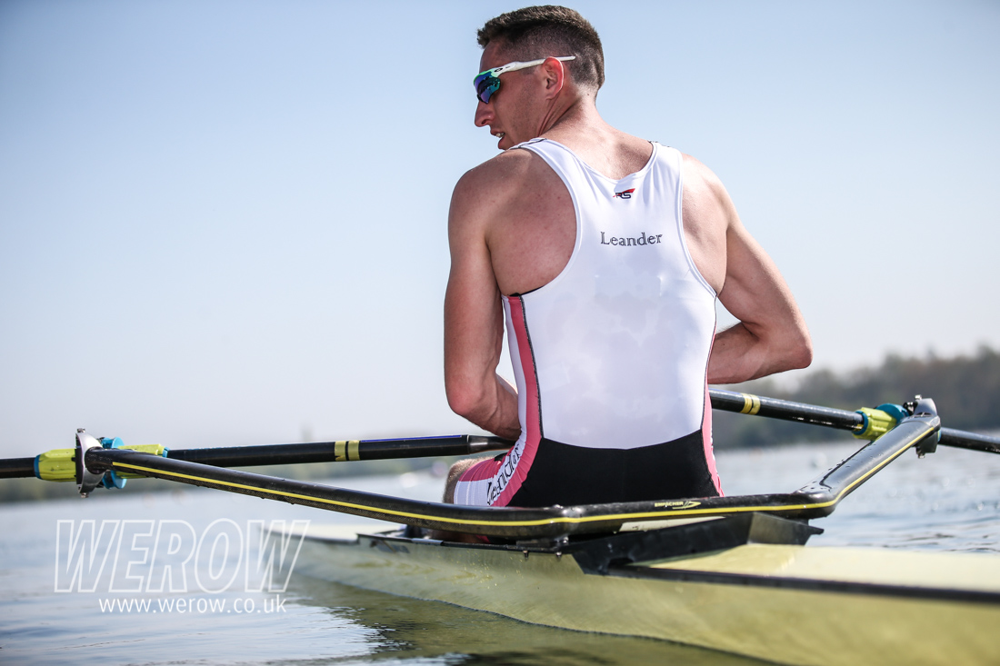 Will Fletcher of Leander wining the LM1x at British Rowing trials