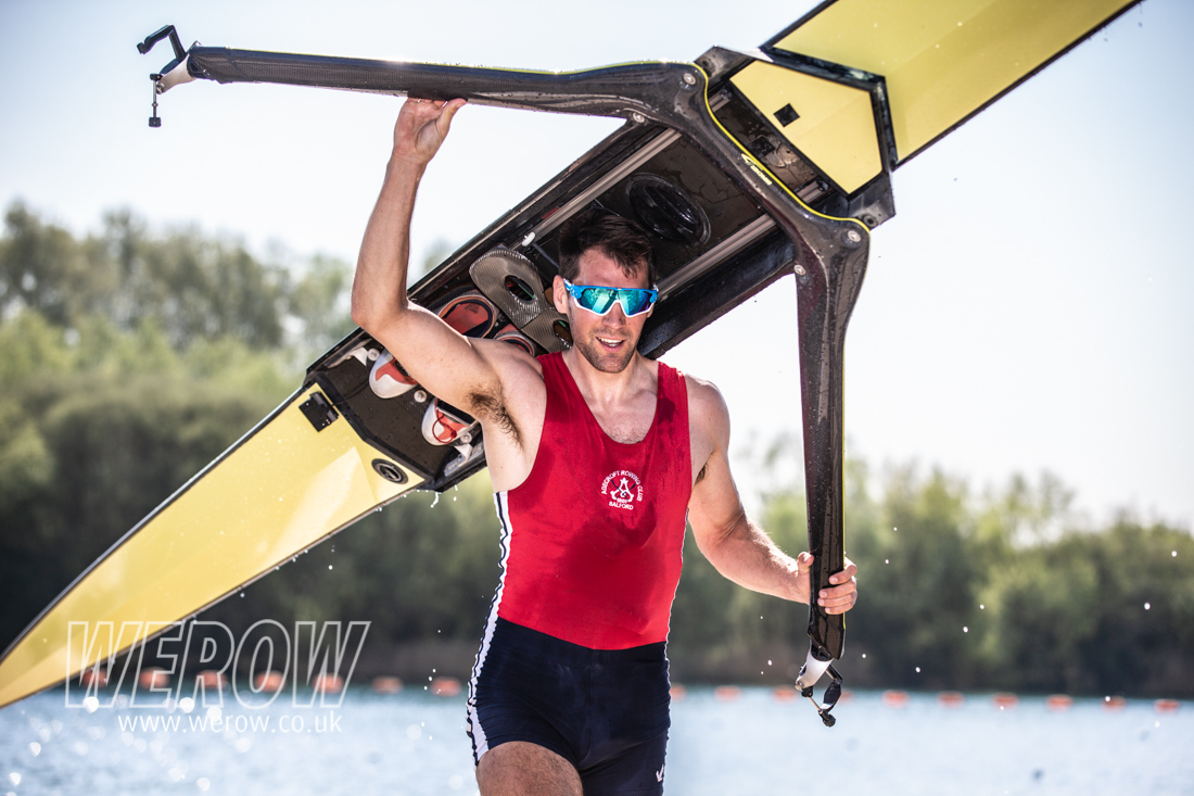 Graeme Thomas winner of the mens sculling at British Rowing trials 2019