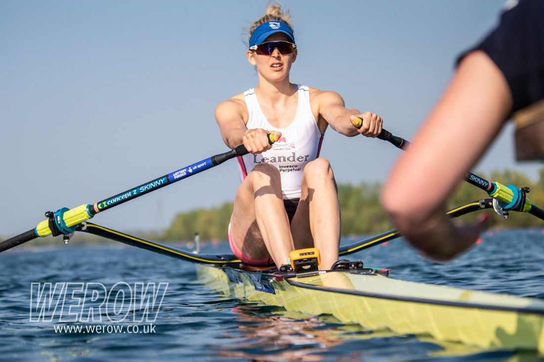Vicky Thornley winning the British Rowing trials 2019