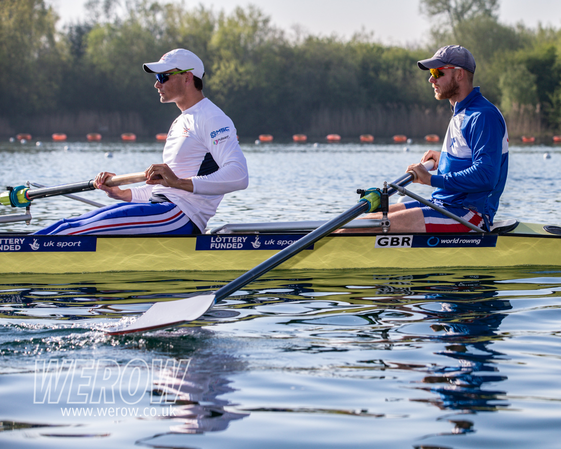 Josh Bugajski and James Rudkin at British Rowing Trials