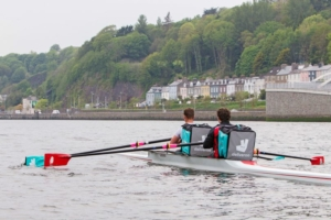 Deliveroo with rowers in Cork