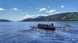 The Loch Ness rowing record has been broken after 19 years