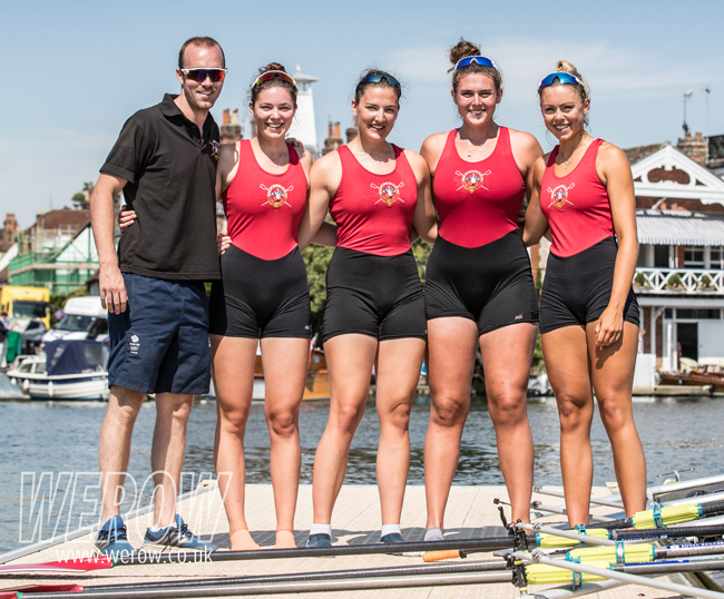 The Marlow Rowing Club Diamond Jubilee Challenge Cup crew at Henley Royal Regatta 2018
