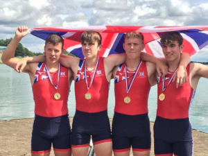 Rowers from the GB v France rowing match 2019