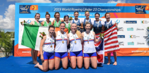 Lydia Currie Hope Cessford Lauren Irwin Alex Rankin s Great Britain win gold in the W4 at the U23 world rowing championships 300x148 - Lydia-Currie,-Hope-Cessford,-Lauren-Irwin,-Alex-Rankin-(s),-Great-Britain,-win-gold-in-the-W4--at-the-U23-world-rowing-championships